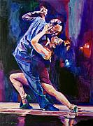Tango Paintings - Tango Romantico by David Lloyd Glover