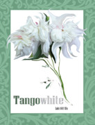 Cultivate Digital Art Framed Prints - Tango White Framed Print by Lonnie Tapia