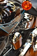 Harley Davidson Road King Motorcycles Photos - Tank Reflection by Rene Triay