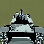 Army Tank Prints - Tank U Very Much 2 Print by Slade Roberts