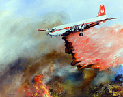Vintage Aircraft Paintings - Tanker 61 by Gary Wynn