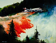 Vintage Aircraft Paintings - Tanker 62 by Gary Wynn