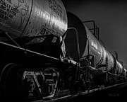 Wagons Prints - Tanker Cars Print by Bob Orsillo