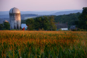 Published Prints - Tanners Farm - A Litchfield Hills scenic landscape Print by Thomas Schoeller