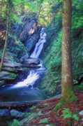 Berkshires Prints - Tannery Brook Falls Print by John Burk