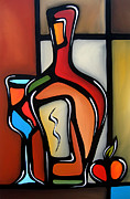 Wine Canvas Drawings - Tannins by Fidostudio by Tom Fedro - Fidostudio