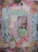 Fabric Mixed Media - Tant qu il y aura des jours by Johanna Virtanen