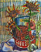 Coffee Paintings - TAO of SIMPLE LIFE by Charlie Spear