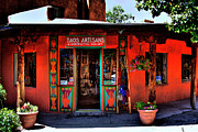 Adobe Framed Prints - Taos Artisans Gallery Framed Print by David Patterson