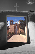Jesus Nature Prints Framed Prints - Taos Church Gateway Framed Print by Rob Outwater
