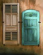 Taos Prints - Taos Doors Print by Sharon Foster