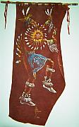 Indian Tapestries - Textiles - Taos Indian Dancer by Lulu Brymer