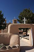 Mission Framed Prints - Taos Mission Framed Print by David Pettit