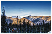 Ski Village Framed Prints - Taos Mountains Sunset  Framed Print by Lisa  Spencer