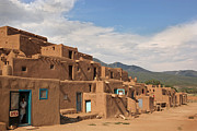 Jason Neely Acrylic Prints - Taos Pueblo Acrylic Print by Jason Neely
