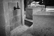 Ammochostos Prints - Tap And Seat At The Ablution Fountains Outside The Lala Mustafa Pasha Mos Print by Joe Fox