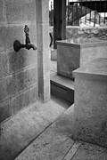 Gaszimagusa Prints - Tap And Seat At The Ablution Fountains Outside The Lala Mustafa Pasha Mosque In Famagusta Print by Joe Fox