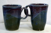 Mugs Ceramics - Tapered Handle Mug by Patrick Trujillo