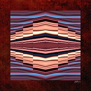 Color Stretching Digital Art - Tapestry on a Brick Wall by Greg Reed Brown