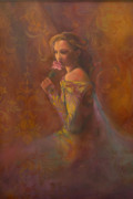 Gown Paintings - Tapestry Rose by Sandra Quintus