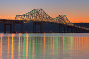 Westchester County Framed Prints - Tappan Zee Bridge after Sunset I Framed Print by Clarence Holmes