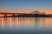 Hudson Valley Framed Prints - Tappan Zee Bridge after Sunset II Framed Print by Clarence Holmes