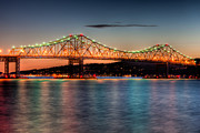 Westchester County Framed Prints - Tappan Zee Bridge Twilight I Framed Print by Clarence Holmes
