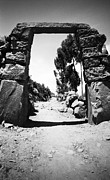 35mm Prints - Taquile Island Archway Print by Darcy Michaelchuk