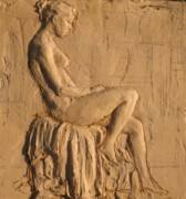 Nude Relief Sculpture Framed Prints - Tara Reading Framed Print by Jammie Williams