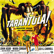 1950s Poster Art Framed Prints - Tarantula, Bottom From Left John Agar Framed Print by Everett