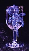 Tarantula On Wine Goblet Print by Janeen Wassink Searles