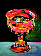 Occasion Paintings - Taras Birthday Goblet by Diane Woods