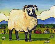 Art For Children Framed Prints - Taras Sheep Framed Print by Stacey Neumiller