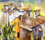 Townscape Mixed Media - Tarbena 04 by Miki De Goodaboom