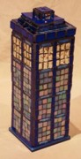 Pop Glass Art - Tardis by Robin Miklatek
