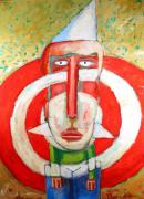 School  Painting Originals - Target Boy by Charlie Spear