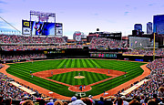 Homerun Metal Prints - Target Field Metal Print by Lyle  Huisken