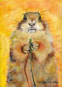 Prairie Dog Metal Prints - Target Metal Print by Pat Saunders-White