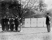 1920s Candid Framed Prints - Target Shooting, Four Women Shooting Framed Print by Everett