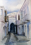 Stephanie Aarons Painting Metal Prints - Tarifa Archway Metal Print by Stephanie Aarons