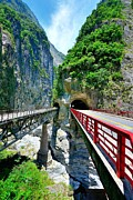 Yellow Line Prints - Taroko Gorge Print by Photography By Anthony Ko