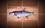 Fish Ceramics Metal Prints - Tarpan Metal Print by Andrew Drozdowicz