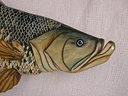 Realistic Reliefs - Tarpon number nine wooden fish by Lisa Ruggiero