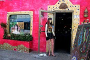 Store Fronts Prints - Tarpon Springs Kitsch Print by Theresa Willingham