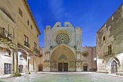 Town Square Framed Prints - Tarragona Cathedral Founded In The 12th Framed Print by Rob Tilley