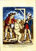 Colonial Man Posters - Tarring And Feathering Poster by Omikron