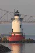 Hudson River Art - Tarrytown Lighthouse and Tappan Zee Bridge III by Clarence Holmes