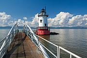 Historic Site Photo Metal Prints - Tarrytown Lighthouse Hudson River New York Metal Print by George Oze