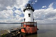 Historic Site Posters - Tarrytown Lightouse on the  Hudson River Poster by George Oze