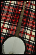 Music Digital Art - Tartan Banjo by Bill Cannon